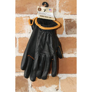 Nordic Fleece Lined Deerskin Work Gloves In Black-Atomic 79
