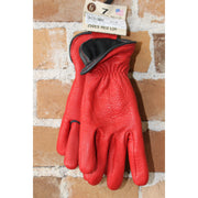 Nordic Fleece Lined Deerskin Work Gloves in Red-Atomic 79