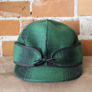 Original Cap In Green And Black Plaid-Atomic 79
