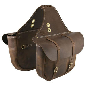 "Outfitters Supply Handcrafted ""Bomber"" Leather Saddlebags-Atomic 79"