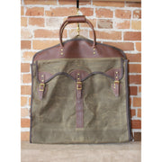 Overland Garment Bag in Waxed Canvas and Leather-Atomic 79