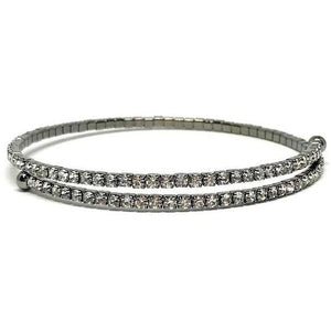 Oxidized Silver Wrap Crystal Bracelet-Atomic 79
