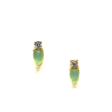 Pear Stud in Chalcedony and Gold Vermeil-Atomic 79
