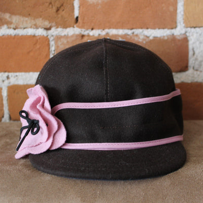 Petal Pusher Hat In Chocolate And Pink-Atomic 79
