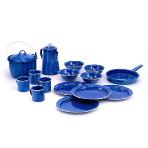 Pioneer Camp Set in Blue Enamelware-Atomic 79