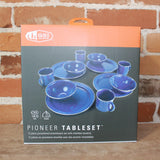 Pioneer Table Set In Blue Enamelware-Atomic 79