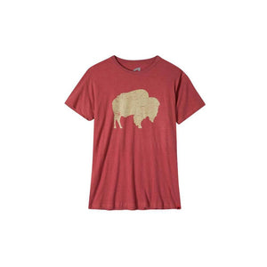 Reflect T Shirt W/Bison Image in Red Heather-Atomic 79