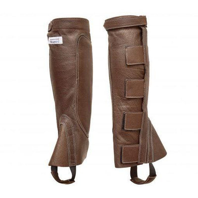 Riding Gaiter in Dark Brown Buffalo Leather-Atomic 79