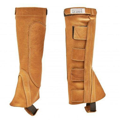 Riding Gaiter in Light Brown Buffalo Leather-Atomic 79