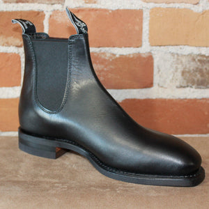 R.M. Williams Comfort Craftsman Dress Boot in Black- Comfort Rubber Sole-Atomic 79
