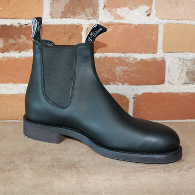 R.M. Williams Gardener Work Boot in Black Oil Kip Leather-Atomic 79