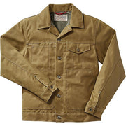 Short Lined Cruiser Jacket in Dark Tan Tin Cloth-Atomic 79