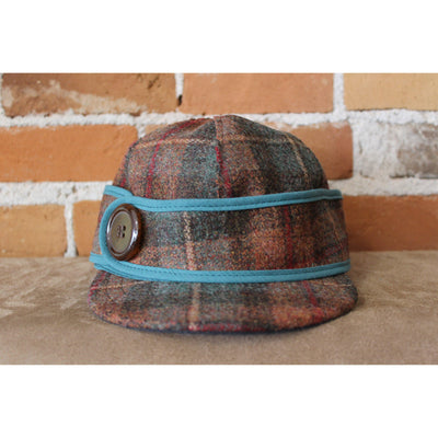 Side Button Hat in Partridge Plaid-Atomic 79