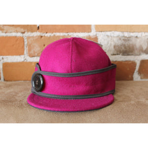 Side Button Hat In Raspberry-Atomic 79