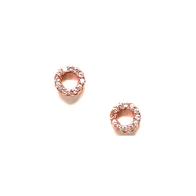 Small Rose Gold Open Circle Stud Earring-Atomic 79