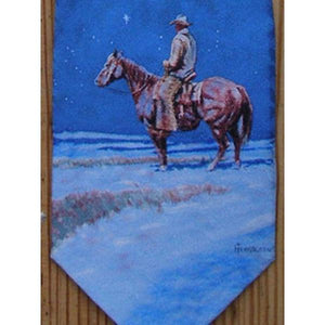 Snow Painting Silk Necktie-Atomic 79
