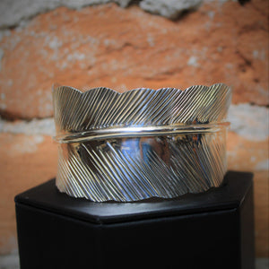 Solid Silver-feather Cuff Bracelet-Atomic 79