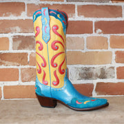 Stallion Ladies Deco Butterfly Boot W/banana Glove Calf Inlays Foxing And Wingtip.-Atomic 79