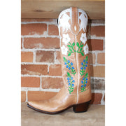 Stallion Ladies Magnolia Boot In Camel W/Flower Inlays-Atomic 79