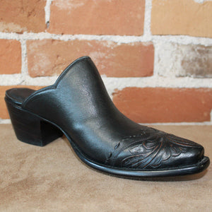 Stallion Ladies Mule (slider) W/ Antique Tooled Buckstitch Toe-Atomic 79