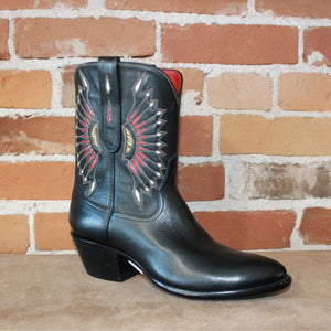 Stallion Ladies Peewee Western Boot W/Moonburst Inlay-Atomic 79