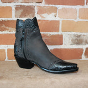 Stallion Ladies Zorro Espresso Calf W/Black Alligator Wing Tip and Buckstitching-Atomic 79