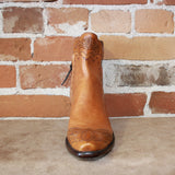 Stallion Ladies Zorro In Camel Colored Calf, W/ Tooled Wingtip And Collar-Atomic 79