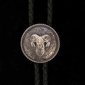 Sterling Silver Bolo Tie W/ Sheep Head-Atomic 79