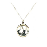 Sterling Silver Circle W/Fir Tree-Atomic 79