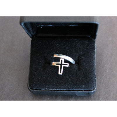 Sterling Silver Cross Ring-Atomic 79