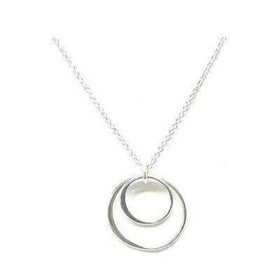 Sterling Silver Double Circle Chain Necklace-Atomic 79