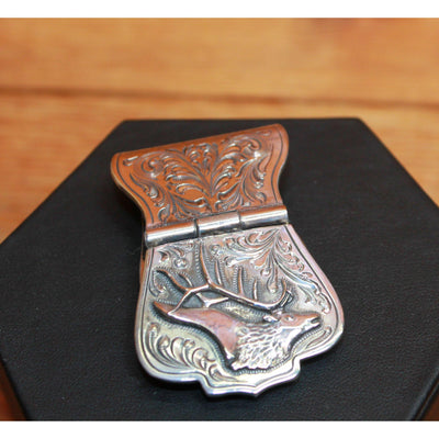 Sterling Silver Money Clip W/Bugling Elk-Atomic 79