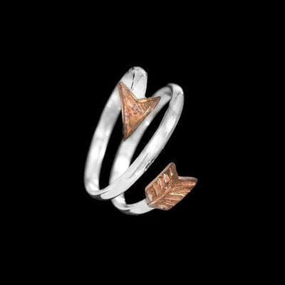 Sterling Twist W/ Copper Arrow Ring-Atomic 79