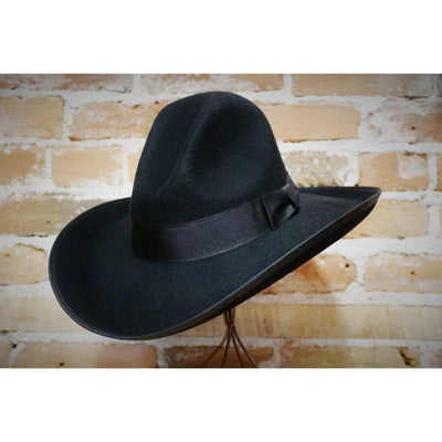 Stetson Tom Mix Jr Hat in Black Felt-Atomic 79