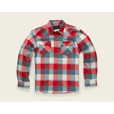 Stockman Stretch Flannel W/Brazos Plaid in Rodeo Red-Atomic 79
