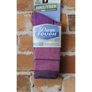 Summit Stripe Boot Sock With Cushion In Violet-Atomic 79