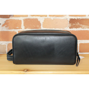 Timeless Black Leather City Washbag-Atomic 79