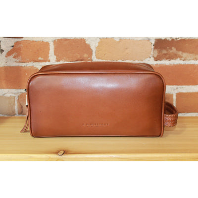 Timeless Tan Leather City Wash Bag-Atomic 79