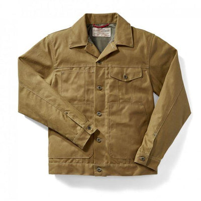 Tin Cloth Packer Coat in Dark Tan Extra Long-Atomic 79