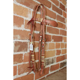 Vaquero Style Headstall W/Rust Accent-Atomic 79