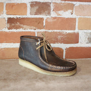 Wallabee Lace-Up Boot W/Signature Crepe Sole in Beeswax Leather-Atomic 79