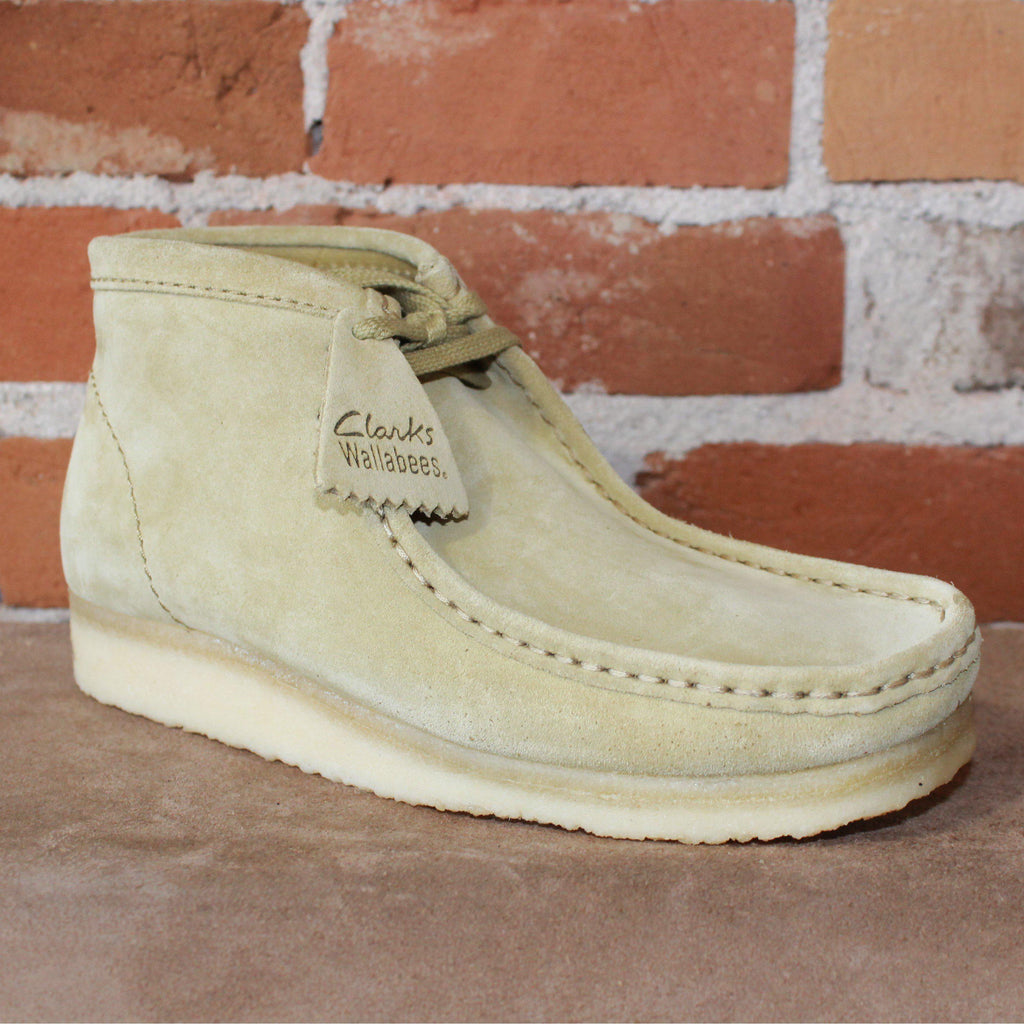 Wallabee Lace-Up Boot W/Signature Crepe Sole in Maple Suede-Atomic 79