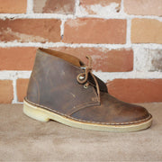 Wallabee Ladies Lace-Up Desert Boot W/Crepe Sole In Gorgeous Beeswax Leather-Atomic 79