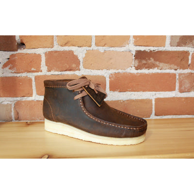 Wallabee Men's Lace Up Boot W/Crepe Sole In Beeswax-Atomic 79