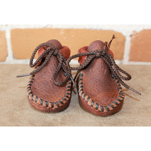 "Wapsi ""Cinnamon"" in Rust Colored Leather and Dark Stitch-Atomic 79"