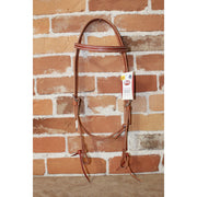 "Weaver 5/8"" Harness Leather Headstall In Golden Brown-Atomic 79"