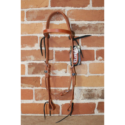 Weaver Leather Headstall In Golden Brown-Atomic 79