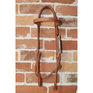 Weaver Leather Headstall W/single Ply Throat Latch-Atomic 79