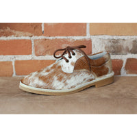 Women's Oxford in Brown/White Hair-On Cowhide-Atomic 79