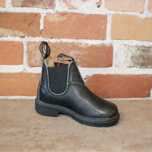 Youth Blundstone Slip On in Black-Atomic 79